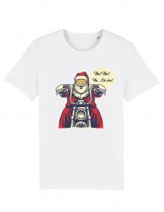 Ho Ho Ho - Tricou alb unisex din bumbac organic