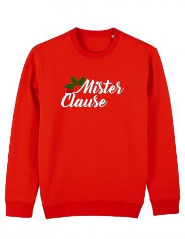Mister Clause - Bluza rosie unisex din bumbac organic