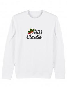 Miss Clause - Bluza alba unisex din bumbac organic