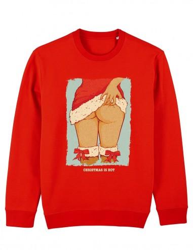 Hot Christmas - Bluza rosie unisex din bumbac organic