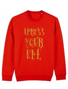 Express your elf - Bluza rosie unisex din bumbac organic