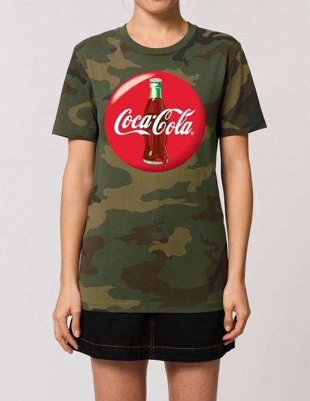 Coca-Cola - Tricou camuflaj femei bumbac organic frontal