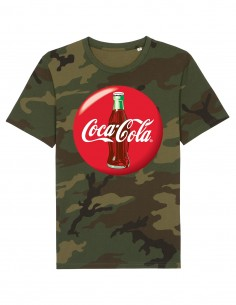 Coca-Cola - Tricou camuflaj unisex din bumbac organic frontal