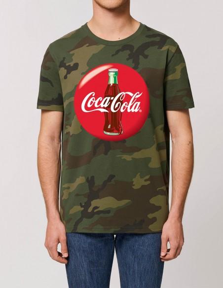 Coca-Cola - Tricou camuflaj barbati bumbac organic frontal