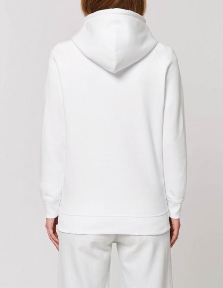 Have a sexy Christmas - Hanorac alb dama bumbac organic posterior