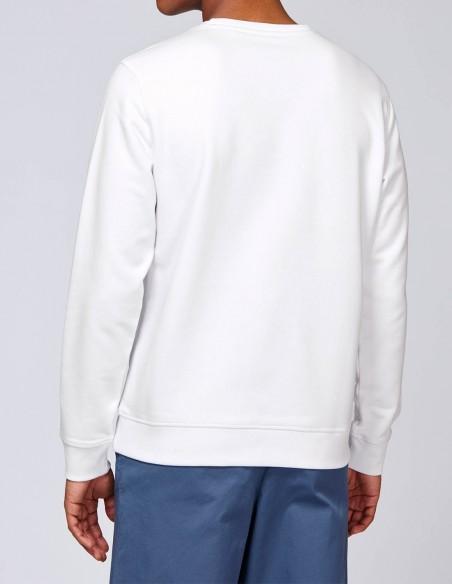 Home Alone - Bluza alba barbati bumbac organic posterior