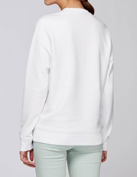 Home Alone - Bluza alba dama bumbac organic posterior