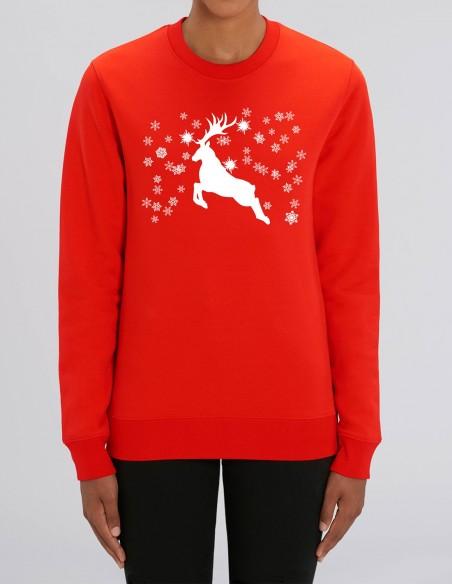 Reindeer - Bluza rosie dama bumbac organic frontal