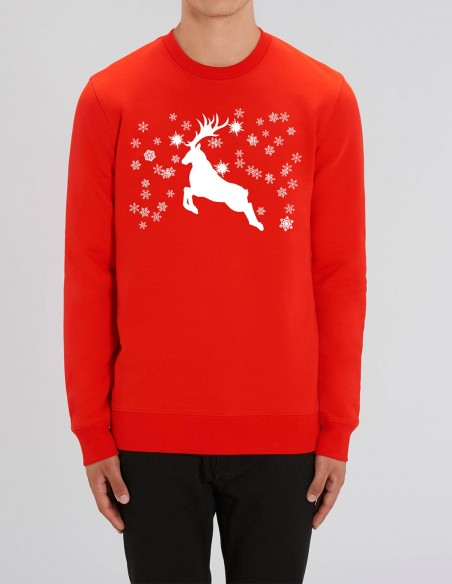 Reindeer - Bluza rosie barbati bumbac organic frontal
