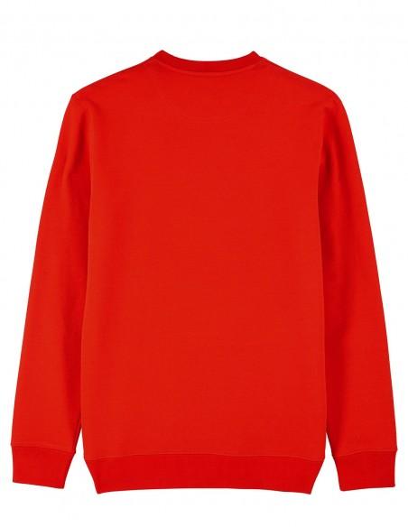 Reindeer - Bluza rosie unisex din bumbac organic posterior