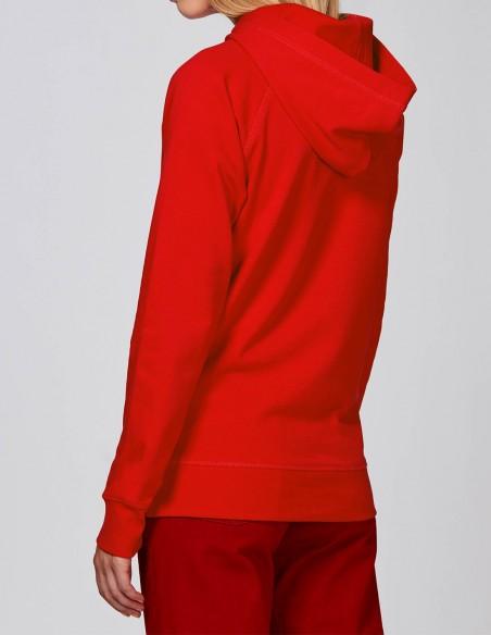 Reindeer - Hanorac rosu dama bumbac organic posterior lateral