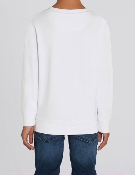 Home Alone - Bluza alba din bumbac organic pentru baieti posterior