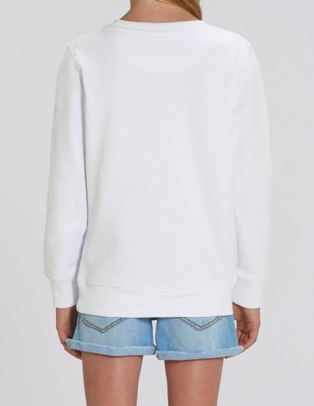 Home Alone - Bluza alba din bumbac organic pentru fetite posterior