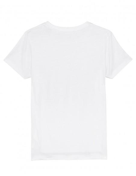 Home Alone - Tricou alb din bumbac organic pentru copii posterior
