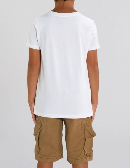 Home Alone - Tricou alb din bumbac organic pentru baieti posterior