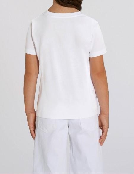 Home Alone - Tricou alb din bumbac organic pentru fete posterior