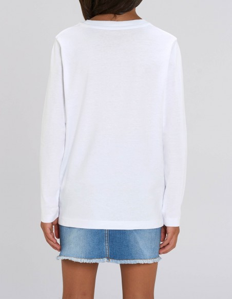 Love Reindeers - Bluza alba din bumbac organic pentru fete posterior