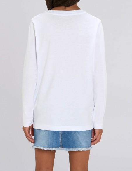 Olaf - Bluza alba din bumbac organic pentru fete posterior