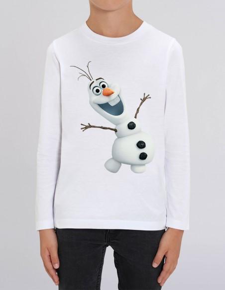 Olaf - Bluza alba din bumbac organic pentru baieti frontal