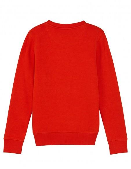 Reindeer - Bluza rosie din bumbac organic pentru copii posterior