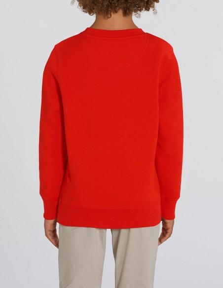 Reindeer - Bluza rosie din bumbac organic pentru baieti posterior