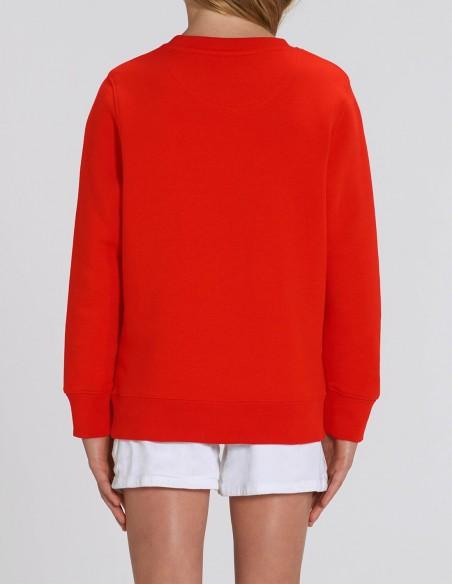 Reindeer - Bluza rosie din bumbac organic pentru fete posterior