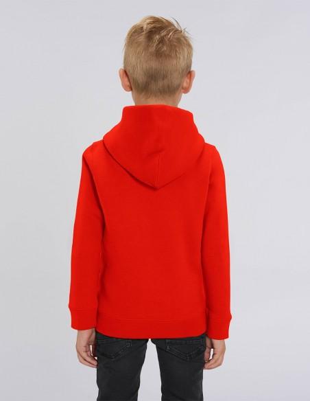 Reindeer - Hanorac rosu din bumbac organic pentru baieti posterior