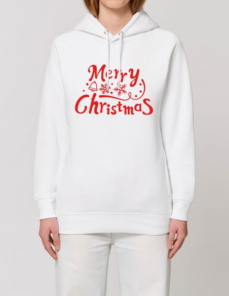 Merry Christmas - Hanorac dama bumbac organic frontal