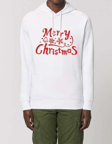 Merry Christmas - Hanorac barbati bumbac organic frontal