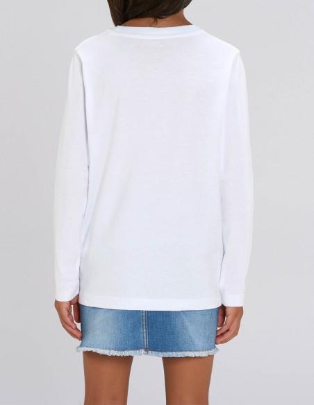 Merry Christmas - Bluza din bumbac organic pentru fete posterior