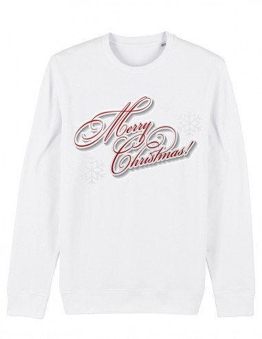 Merry Christmas - Bluza unisex din bumbac organic frontal