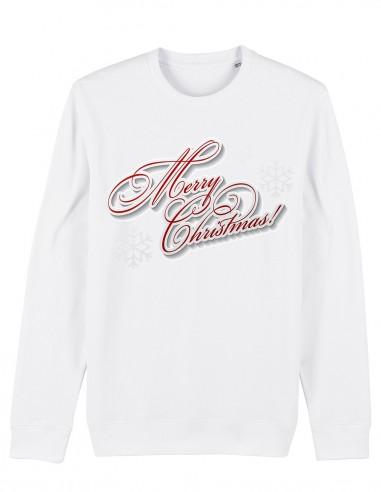 Merry Christmas - Bluza unisex din bumbac organic frontal