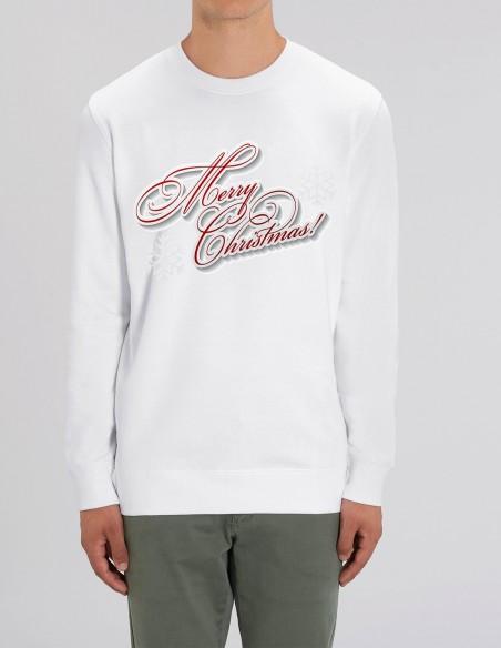 Merry Christmas - Bluza barbati bumbac organic frontal