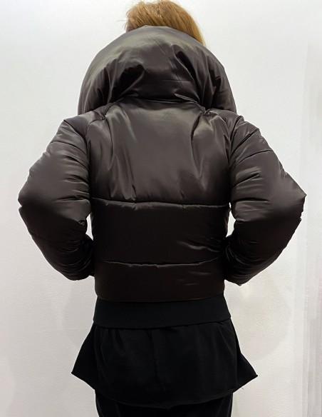 Sonjiro - Jacheta puffer cu guler asimetric posterior