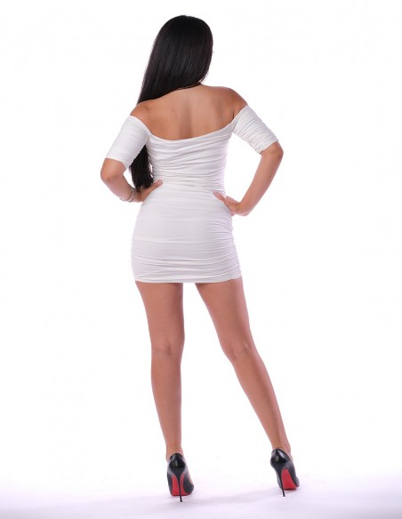 Rochie Rochie mulata de tip bodycon Sharon - Alb - Larisa Udila