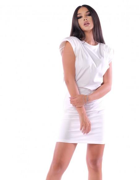 Rochie din bumbac lejera pe langa corp Lara Chill - Larisa Udila